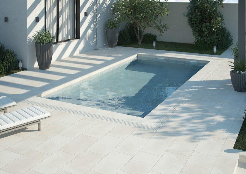 Ambiente ceramico 3d Terraza Piscina